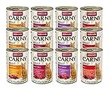 Animonda Carny Adult Katzenfutter, Nassfutter für ausgewachsene Katzen, Herzhafte Variation , 12 x 400 g