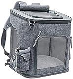 SKYWPOJU Extra Großer Haustierrucksack 20 Kg Hunderucksack Sommer Atmungsaktiv Tragetasche Zusammenklappbarer Katzenrucksack