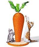 Kratzbaum Katzenbaum Kletterbaum Katzenspielzeug Katzenmöbel mit Sisal,Kuschelige Karotte Kratzbaum Kratzpfosten Kratzstamm, Lustig Spielzeug für Katzen