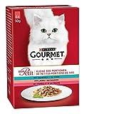 PURINA GOURMET Mon Petit Katzenfutter nass, Fisch-Variationen, 8er Pack (8 x 6 Beutel à 50g)