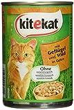 Kitekat Katzenfutter Geflügel und Wild in Gelee, 400 g