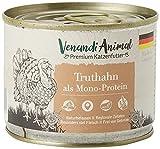 Venandi Animal Premium Nassfutter für Katzen, Truthahn als Monoprotein, 6 x 200 g, getreidefrei und naturbelassen, 1.2 kg