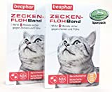 MAX HAMSTER SPARPACK: 2 x Beaphar Zeckenhalsband/Flohband für Katzen L: 35cm