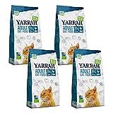 Yarrah - Trockenfutter mit Huhn & Fisch für Katzen Bio - 2,4 kg - 4er Pack