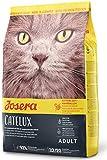 JOSERA Catelux (1 x 2 kg)   Katzenfutter mit Anti-Haarballen-Effekt   Super Premium Trockenfutter für ausgewachsene Katzen   1er Pack