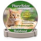 PheroRelax beruhigendes Halsband - Katzenhalsband - Entspannungsmittel - mit natürlichen Wirkstoffen - Pheromonhalsband - Wohlbefinden & Entspannung für Katzen