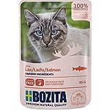 Bozita Pouch Häppchen in Soße mit Lachs | 12x 85g Katzenfutter nass