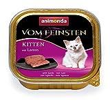 animonda Vom Feinsten Kitten, Nassfutter für wachsende Katzen im ersten Lebensjahr, mit Lamm, 32 x 100 g