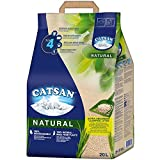 CATSAN Natural – Kompostierbare Klumpstreu für Katzen aus 100% Pflanzenfasern – 1 x 20 Liter