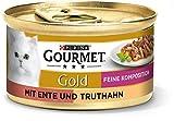 PURINA GOURMET Gold Feine Komposition Katzenfutter nass, mit Ente und Truthahn, 12er Pack (12 x 85g)