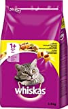 Whiskas Katzenfutter Trockenfutter Adult 1+ mit Huhn, 1 Beutel (1 x 3,8kg)