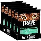 CRAVE Katzenfutter - getreidefreies, proteinreiches Trockenfutter in Lachs und Weissfisch - 6 Beutel (6 x 750g)