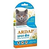 ARDAP Spot On - Zecken & Flohschutz für Katzen über 4kg - Natürlicher Wirkstoff - 3 Tuben je 0,8ml - Bis zu 12 Wochen nachhaltiger Langzeitschutz