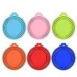 Xinzistar 6 Stück Dosendeckel für Hundefutter Katzenfutter Tierfutter Silikon Universal Deckel für Futteraufbewahrung Tierfutterdosen