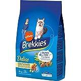 Brekkies Delice gefüllten Kroketten Crunchy Garnele © In für Katzen Bei Lachs Thunfisch und Lã © Gumes 4Kg (3er-Pack) 1