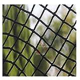 MAGFYLY Treppenetz Balkon-Netz Kinder Anti-Fall Sicherheitsnetz,Gepäcknetz Zaun-Netz,Balkon Treppe Schutznetz Kletterseilnetz Garten-Abdecknetz Katzennetz 1x10m Schwarz (Size : 1 * 3m(3 * 10ft))