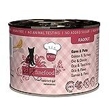 catz finefood Ragout N° 603 Gans & Pute Katzenfutter nass - Feinkost Nassfutter für Katzen in Sauce ohne Getreide und Zucker mit hohem Fleischanteil, 6 x 180 g Dose