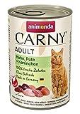 animonda Carny Adult Katzenfutter, Nassfutter für ausgewachsene Katzen, Huhn, Pute + Kaninchen, 6 x 400 g