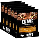 CRAVE Katzenfutter - getreidefreies, proteinreiches Trockenfutter in Truthahn und Huhn - 6 Beutel (6 x 750g)