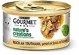 PURINA GOURMET Nature's Creation Katzennassfutter in Gelee naturbelassen, Truthahn, 12er Pack (12 x 85g)