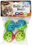 Bow Wow Katzenball mit Glöckchen, 4 Stück