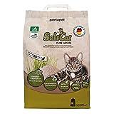 SoftCat, natürliche Katzenstreu, Klumpstreu, aus 100% Pflanzenfasern, kompostierbar, 17 Liter für ca. 80 Tage, im Papierbeutel