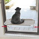 LSAIFATER Rundum 360° Sonnenbad mit unteren Stützen aus Metall, Katzen-Fenstersitz, Katzenhängematte, Fenstersitz für alle Katzen