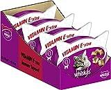 Whiskas Katzensnacks Katzenleckerli Vitamin E-Xtra, 8 Packungen (8 x 50g)
