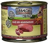 MAC's Katzenfutter getreidefrei Kitten Kalb & Hühnerherzen, 6er Pack (6 x 200 g)