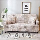 Sofabezug 3Sitzer Couch Überwurf Sofa Sauber Bezug Stretchy Antirutsch Couchbezug Moderne Sofaschoner Sitzfläche Sofaüberwurf für Tiere KatzenMilchig Weiße Linien