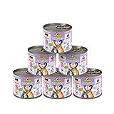 GranataPet Delicatessen Ente & Geflügel, Nassfutter für Katzen, Katzenfutter für Feinschmecker, Futter ohne Getreide & ohne Zuckerzusätze, 6 x 200 g