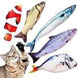 TILLMANN'S Katzenminze Fische Spielzeug Funny Fish Katzenminze Kissen als Set mit 5 Fischen I wie Baldrian für Katzen I mit Katzenminze gefüllte Fisch Kissen