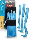 Bluepet® 3 Größen im Bag Zeckenhaken Zeckenentferner für Hund, Katze & Pferd | Zeckenhebel zum Zeckenschutz | Zeckenzange, Zeckenhalsband, Zeckenmittel, Zeckenpinzette