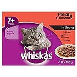 Whiskas 7+ Meat In Soße Senior Katzentäschchen, 12 x 100 g