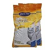 White Cat 2 x 15 L Katzenstreu klumpend mit Babypuderduft Naturprodukt staubarm