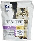Perfect Fit Junior-Knabbereien für junge sterilisierte Katzen und Kätzchen, reich an Hühnchen, 6 Beutel mit 400 g