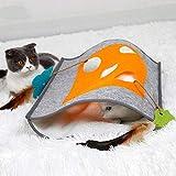 DXENXPG Katzentunnel Cat Tunnel Cat Schlafsack Katze Tunnel Cat Litter Bag mit Ring- Paper Puzzle Katzenspielzeug Katzenspielzeug (Farbe : Grau, Size : 48x37cm)