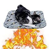 Selbstheizende Decke Für Katzen & Hunde,Haustier Wärmekissen,Wärmedecke Selbstwärmend Katzendecke Hundedecke,Waschbare Matte Für Haustier-Winter,Für Hundekatze kleine Tiere,Dick Und Weich,50×70cm
