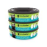 Litter Locker Pack de 3RECHARGES Runde Displayschutzfolie aus Kunststoff für Katzen grün 17x 17x 15cm