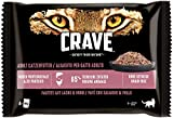 CRAVE Katze Pouch Paté mit Lachs & Huhn 4x85g
