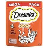 Dreamies Katze Behandelt Huhn Mega Pack 180G (Packung mit 4)