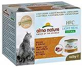 almo nature HFC Natural Light Meal Katzenfutter für ausgewachsene Katzen - Huhn und Thunfisch 50 g x 4 stück, 200 g
