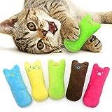 AnCoSoo Spielzeug mit Katzenminze, Katzenspielzeug Set aus Katzenkissen mit Katzenminze, Interaktives Kauspielzeug Katzenminze Spielzeug Spiele Set Geeignet für alle Katzen und Kätzchen