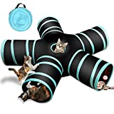 Sammiu 5-Wege-Katzentunnel, Collapsible Pet Play Tunnel Interactive Tube für Katze, Welpe, Kitty, Kätzchen, Kaninchen