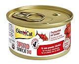 GimCat Superfood ShinyCat Duo Filet mit Obst oder Gemüse - Katzenfutter mit saftigem Filet ohne Zuckerzusatz für ausgewachsene Katzen