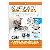 Catit Ersatzreinigungsfilter Premium für die Catit Trinkbrunnen 3L, 2er Pack