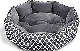 CatRomance Hundebett Haustierbett für Katzen und Hunde Katzenbett Waschbar Weiches und Warmes Haustierbett mit Zweiseitig Innenkissen für Katzen und kleine Hunde S(50*50 cm)