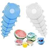 Silikondeckel,12 Dehnbare Silikondeckel, Silikondeckel BPA Frei, Universal Silikondeckel für Schüsseln, Becher, Dosen, Obst