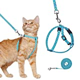 Katzengeschirr und Leine, ausbruchsicheres Westengeschirr für Spaziergänge im Freien, verstellbar, weiches Haustiergeschirr, Brustgurt mit Ananas-Muster, passend für die meisten Katzen