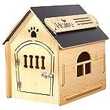 thematys Hundehütte aus Holz I Indoor Hunde-Haus I Schlafplatz für Haustiere I Wasserabweisend und stabil I Verschiedene Größen und Farben (XL (77 x 54 x 75cm), Style 6)